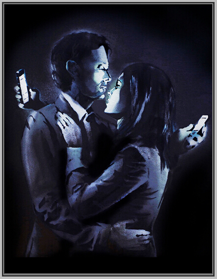 Keep In Touch Banksy Art Hand Painted Canvas Oil Painting