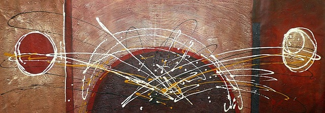 Abstract Black White Red Hand Painted Canvas Oil Painting