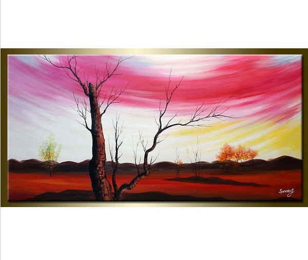 Sunming Sunglow in Winter Hand Painted Canvas Oil Painting